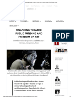 Financing Theatre_ Public Funding and Freedom of Art _ the Theatre Times