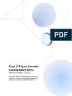 Physics Summary Class10