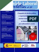 Boletin CIG Saude Laboral Nº31 Version Galego