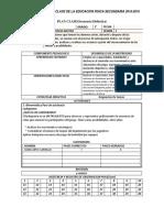 Primera Unidad Didactica de Secundaria 2018-2019