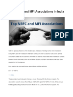 Top NBFC and MFI Associations in India