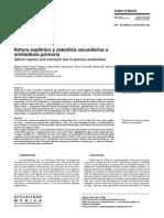 Rotura esplénica y osteolisis secundarias a amiloidosis primaria