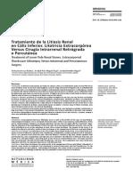 Tratamiento de la Litiasis Renal en Cáliz Inferior. Litotricia Extracorpórea Versus Cirugía Intrarrenal Retrógrada o Percutánea