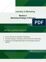 MKT305 (Module 2 Mktg Strategy)