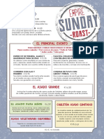Empire Sunday Roast Lunch Menu ES