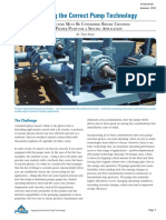 Applying the Correct Pump Technology