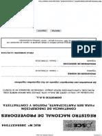 Registro Nacional de Proveedores Domotco Srl