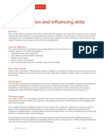 Persuasion and Influencing Skills