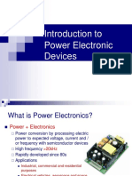 Introduction to Power Electronic Devices