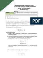 10 Repaso Metodos de Solucion de Los Sistemas Lineales 2x2