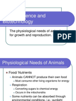 Animal Biotech and breeding techniques.