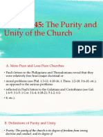 Chapter 45, The Purity and the Unity of the Church