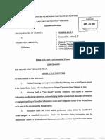 Julian Assange Acusacion (Indictment)