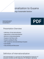 Internationalization to Guyana