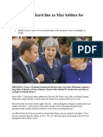 France Takes Hard Line as May Lobbies for Brexit Delay