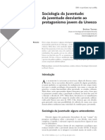 Sociologia Da Juventude - Da Juventude Desviante Ao Protagonismo Jovem Da Unesco