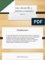 Ensayo Desarrollo y Crecimiento Económico
