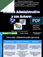 procesos administrativo y sus actores