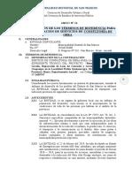 01 Requerimiento de Consultorias de Obras San Marcos