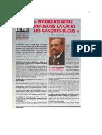 "Interview d'Omar el-Béchir dans ""Point de vue"""