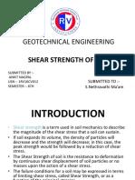 SHEAR STRENGTH OF SOILS