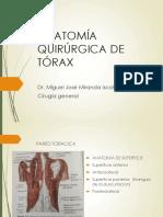 Anatomía Quirúrgica de Tórax