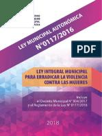 Ley Municipal 0117/2016