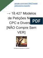 → 18.427 Modelos de Petições Diversas [427 modelos de petições do Novo CPC]