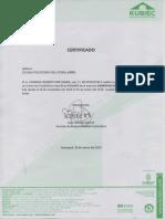 Certificado de Pasantias