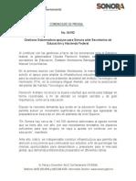 05-04-2019 Gestiona Gobernadora apoyos para Sonora ante Secretarios de Educación y Hacienda Federal