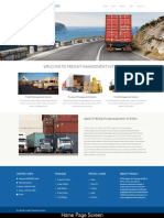 Freight Management System Screens