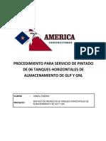 1.1 Procedimiento Servicio de Pintado de 06 Tanques Horizontales de Almacenamiento de Glp y Gnl - Orazul Energy