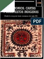 Testimonios, cartas y manifiestos indígenas