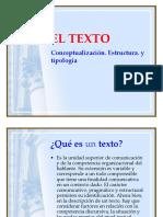 El Texto Definición y Tipologia