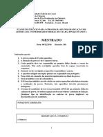 Gabarito mestrado 2017.1