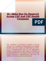 Abdul Rao On Research Across USF
