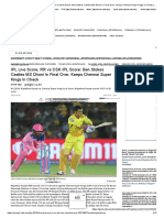 Live IPL Score, RR vs CSK Live Cricket Score_ Ben Stokes Castles MS Dhoni in Final Over, Keeps Chennai Super Kings in Check _ Cricket News