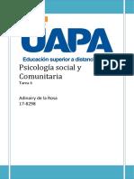 Psicología Social y Comunitaria Tarea 4