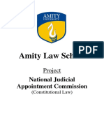 Constitutional Law Assignment - National Judicial Appointment Commission