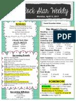 egan april 15 lesson 23 unit 8 newsletter