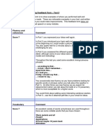 A Premium Speaking Feedback Form Test 2