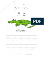 Alphabet Tracing Letter A