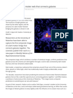 Sciencedaily.com-First Image of a Dark Matter Web That Connects Galaxies
