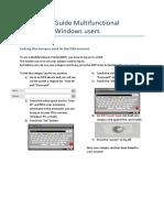 En HL Quick Start Guide Multifunctional Printers for Win
