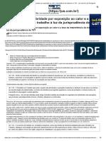 Adicional de Insalubridade Por Exposição Ao Calor e Intermitência Do Trabalho No TST - Jus.com.Br _ Jus Navigandi