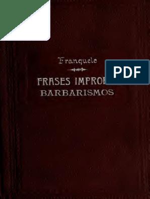 Frases Impropias Pdf Idioma Español Latín