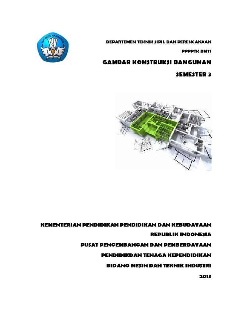 Gambar Konstruksi Bangunan Semester 3