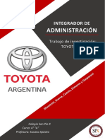 Toyota S.A. - Integrador Admin.