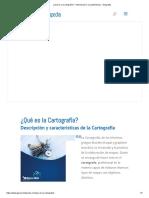 ¿Qué Es La Cartografía_ - Información y Características - Geografía