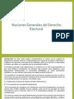 Generalidades del Derecho Electoral